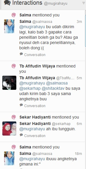 interaksi lewat twitter